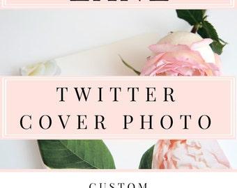ADD ON - Custom Twitter Cover Photo - Twitter Header Image Design - Custom Twitter Banner - Social Media Banner - Custom Cover Photo Design