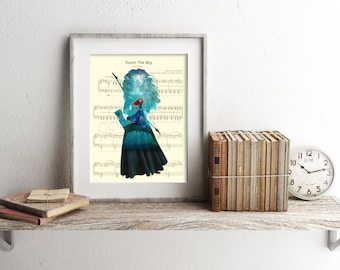 Brave Merida Music Sheet Art Print