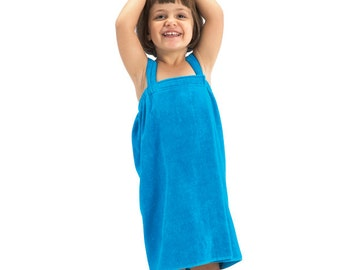 Spa Wraps Great as beach coverup and spa wrap for girls// Terry Velour//sizes small and medium//Flower Girl Gift, Christmas,Birthday Gift.