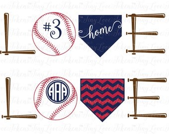 Baseball Love SVG Design for Silhouette and other craft cutters (.svg/.dxf/.eps/.pdf)