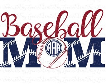 Baseball Mom SVG Design for Silhouette and other craft cutters (.svg/.dxf/.eps/.pdf)
