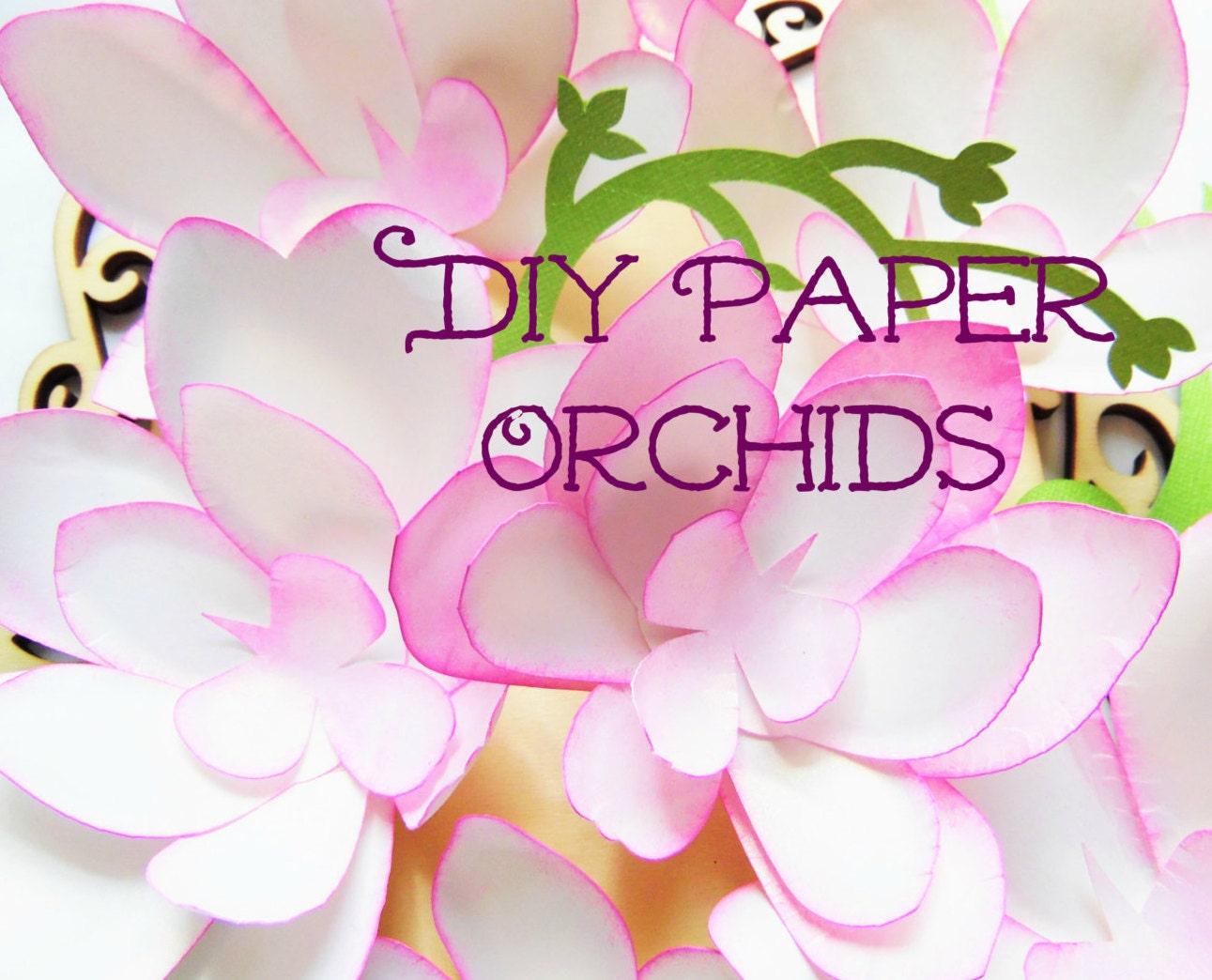 diy paper flowers diy orchid paper flower templates wedding