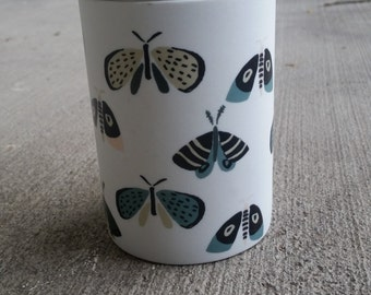 Butterfly Porcelain Canister