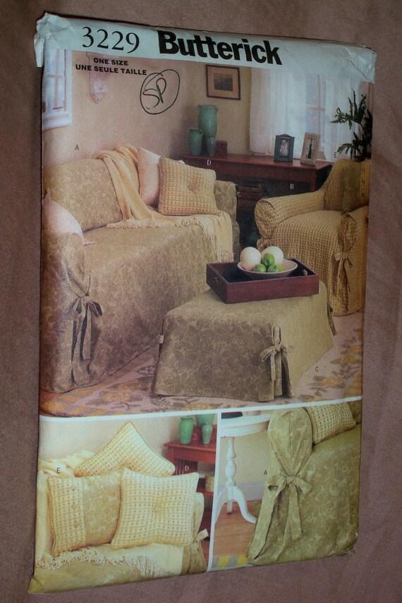Butterick Pattern No 3229 Sofa Loveseat Ottoman Slip Covers