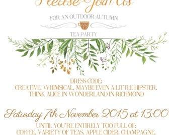 Custom Printable Party Invitation