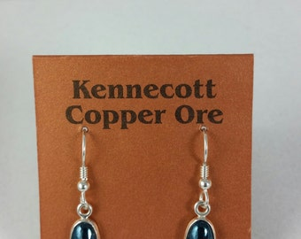 covellite French wire earrings