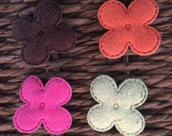 Suede Mini Flowers
