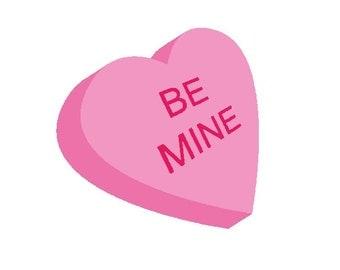 Be Mine Valentine Heart Embroidery Design