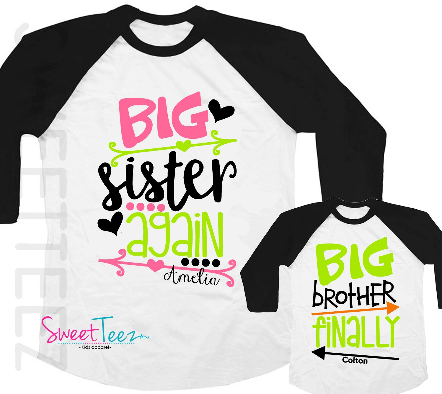 big sister again shirt big brother finally shirt set arrows