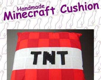 TNT Block from Minecraft. Handmade Minecraft Cushion.