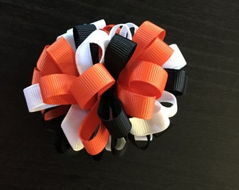 Halloween Loop Puff Hair Bow