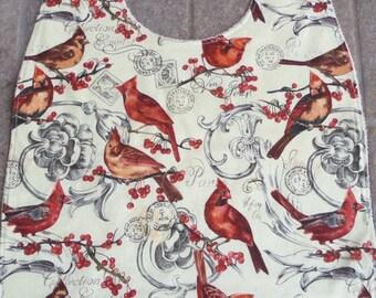 Cardinals - Large Adult Bib Clothes Shirt Protector Saver, Women Special Needs Pregnancy Make-up Bib