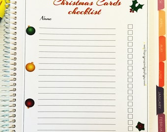 Christmas Cards Checklist Planner Stickers Full Page