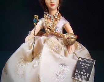 Collectors Costume Doll, Queen Elizabeth ll, by Peggy Nisbet