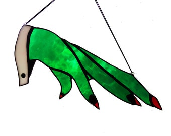 Witch Hand Sun Catcher Stained Glass Art