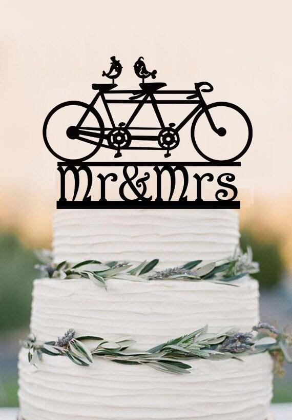 Bicycle Wedding Cake Topper Australia