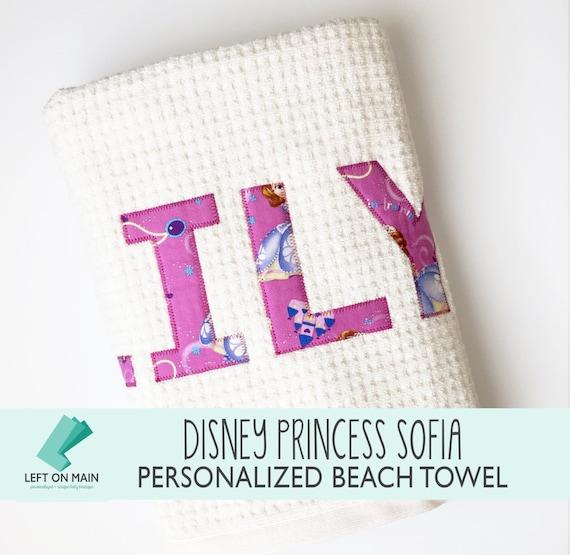 Disney Kids Towel-Princess Sofia-Personalized Girl Bath