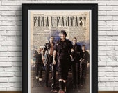 Final Fantasy print   gift   Final Fantasy wedding   vintage   Final Fantasy game   newspaper design   home interior   Final Fantasy art featured image