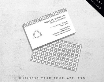 Business card template | Photoshop business card | Customisable business card