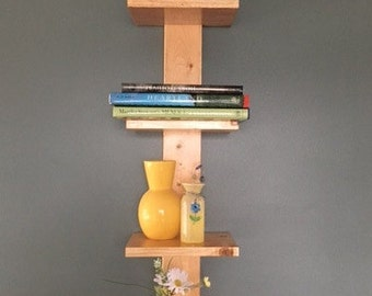 Contemporary vertical shelf