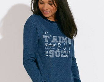 Sweater cotton Denim - Footballover blue