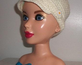 Creamy White Child's Newsboy Hat
