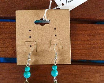 Indonesian faux turquoise earrings