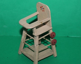 Vintage Dolls House German Metamorphic Highchair