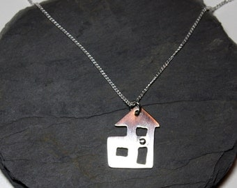 Silver necklace My House
