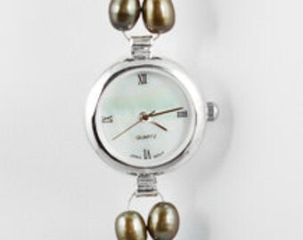 Pearl and Silver Watch