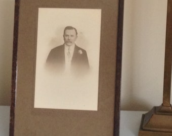 Edwardian Wooden Frame With Photo