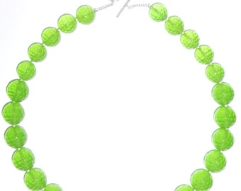 Lime Green Quartz Necklace