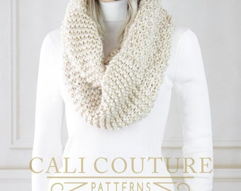Knit Infinity Scarf PATTERN - Sydney Scarf Pattern #17 - Knitting Pattern Infinity Scarf - Digital Download - Not a Physical Scarf!