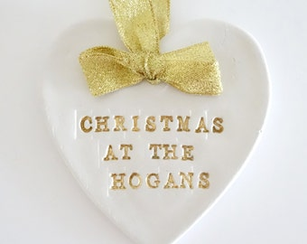 Personalised Christmas decoration, christmas gift, family christmas, family christmas plaque, christmas keepsake, family name gift