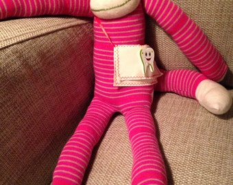 Tooth Fairy Sock Monkey doll