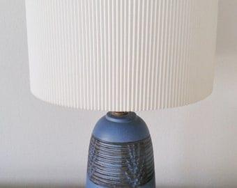 Nancy Wickham Petite Blue and Black Accent Lamp for Design Technics