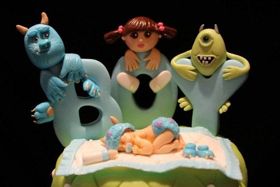 Monsters Baby Shower Cake Topper Set From Naomissweetart On Etsy Studio