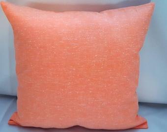Orange Vintage Fabric Pillow