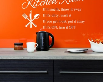 Kitchen Rules Vinyl Wall Decal Sticker for your Kitchen or Dining Room