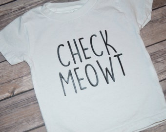 Infant/Toddler T-Shirt or Bodysuit - Check Meowt