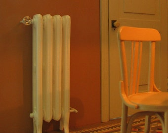 cast iron radiator (1/12 scale miniature)