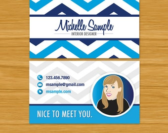 Business Card Template/Custom Avatar  (Digital Files Only)