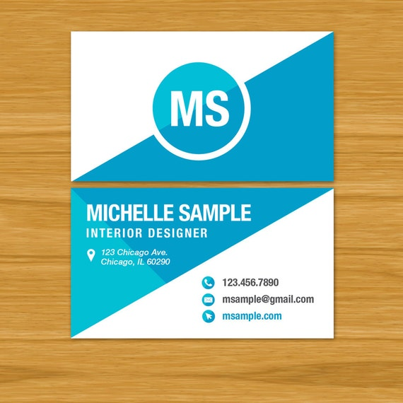 Business card template custom print ready pdf digital file for Business card template pdf
