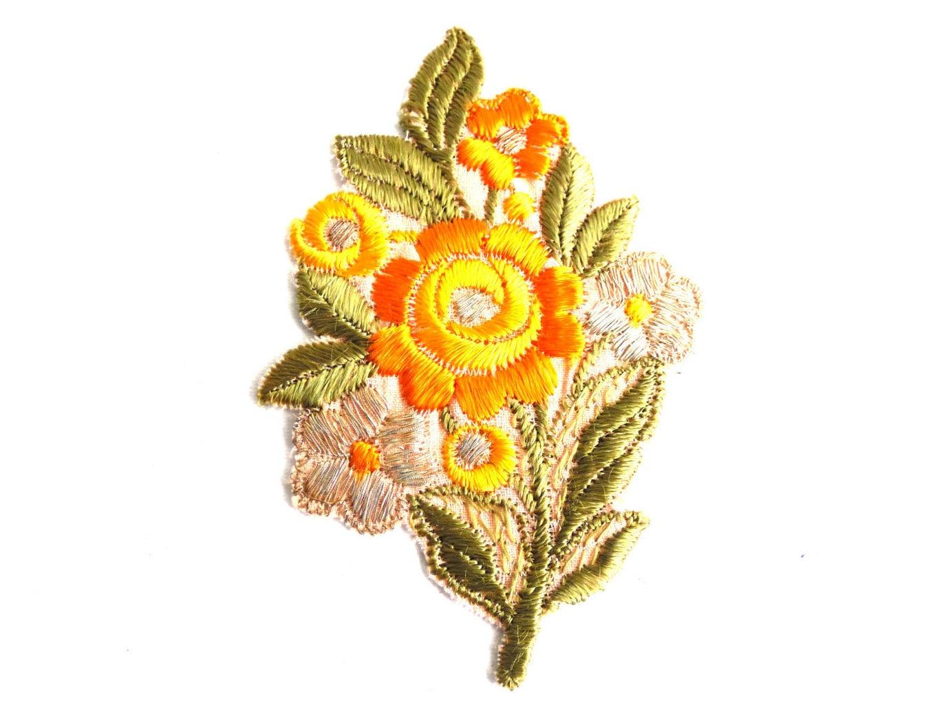 Applique Vintage Of 1930s Flower Applique Vintage Embroidered Applique Vintage