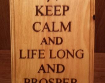 Live Long and Prosper plaque