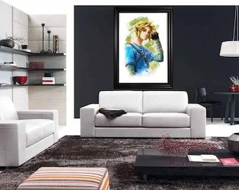 Link // Breath of the Wild // Legend of Zelda // Artwork // Wallart // Portrait