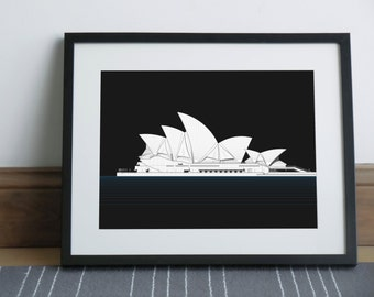 Sydney Opera House Black Edition - Art print