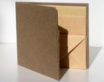 Kraft Paper Wallet | Super Thin | Self-customizable | Bifold | Vegan