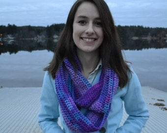 Purple and multicolor Scarf