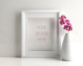 Styled Stock Photography, Frame Mockup , white Frame mockup, Styled Photography Mockup, stock photo